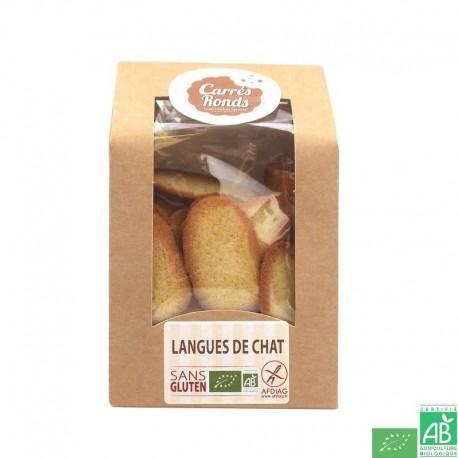 Langues de chat sans gluten carres ronds