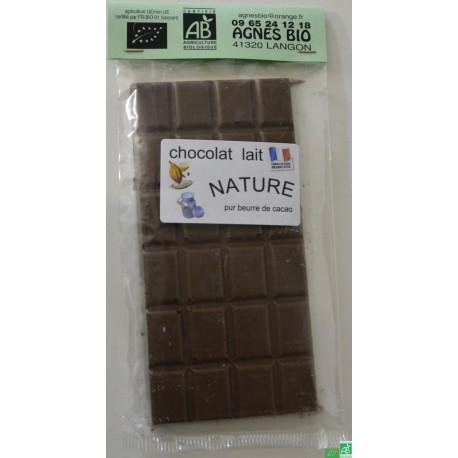 Chocolat lait nature agnes bio