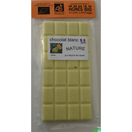 Chocolat blanc nature agnes bio