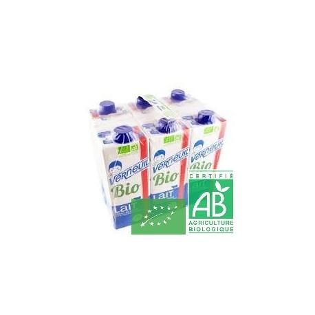 Pack 6 laits demi-ecreme verneuil